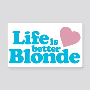 Life is Better Blonde Rectangle Car Magnet