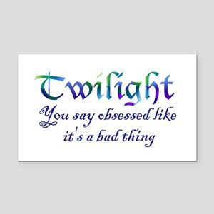 Twilight Obsessed Rectangle Car Magnet