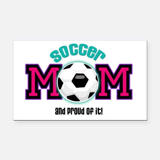 Soccer Mom Rectangle Car Magnet