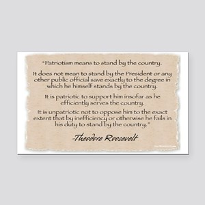 Rectangle Car Magnet:Roosevelt-Patriotism