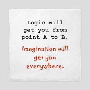 Imagination Everywhere Black Queen Duvet