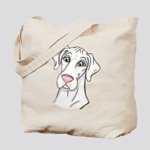 N Pinknose Wht Tote Bag