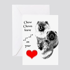 Chow 4 Greeting Cards (Pk of 10)