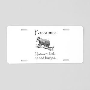 Possum Speed Bump Aluminum License Plate