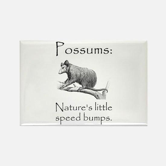Possum Speed Bump.png Rectangle Magnet (10 pack)