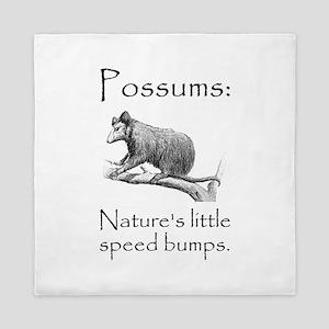 Possum Speed Bump Queen Duvet
