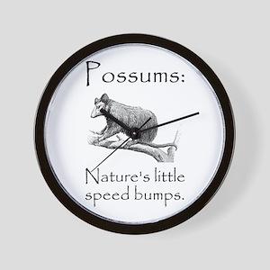 Possum Speed Bump Wall Clock