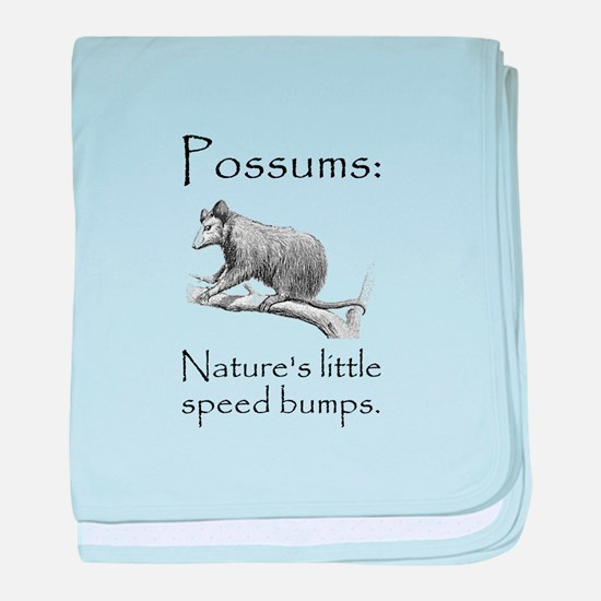 Possum Speed Bump.png baby blanket