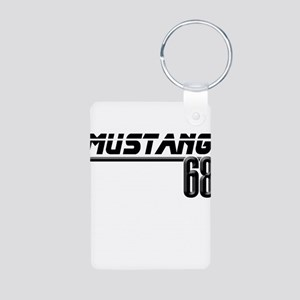 Mustang 68 Aluminum Photo Keychain
