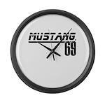 Mustang 69 Large Wall Clock