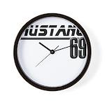 Mustang 69 Wall Clock