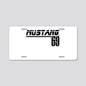 Mustang 69 Aluminum License Plate