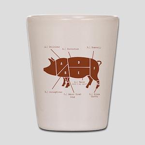 Delicious Pig Parts! Shot Glass