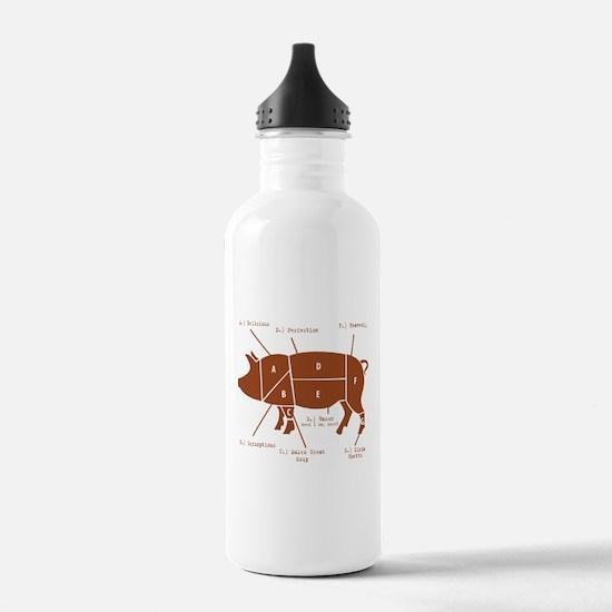 Delicious Pig Parts! Water Bottle