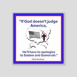 """Sodom and Gomorrah Square Sticker 3"""" x 3"""""""