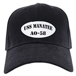 USS MANATEE Black Cap with Patch