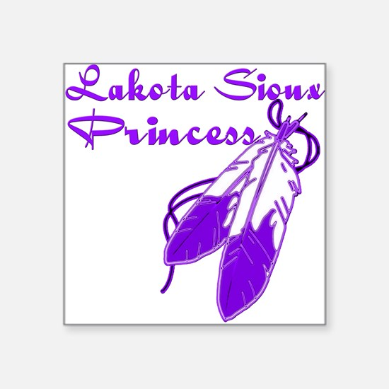 "Purple Lakota Sioux Princes Square Sticker 3"" x 3"""