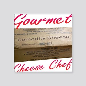 "Commodity Cheese Square Sticker 3"" x 3"""