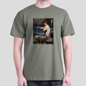 John William Waterhouse Mermaid Dark T-Shirt