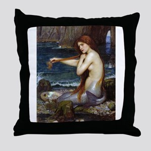 John William Waterhouse Mermaid Throw Pillow