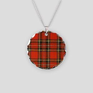 Tartan Pride Necklace Circle Charm