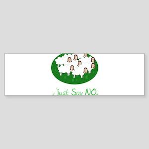 no sheeple Sticker (Bumper)