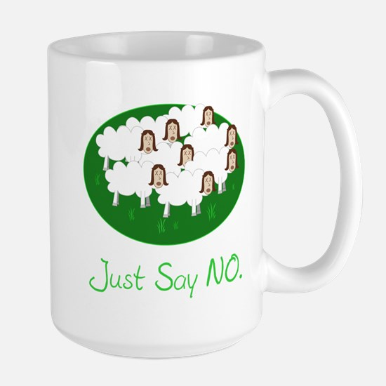 no sheeple Large Mug