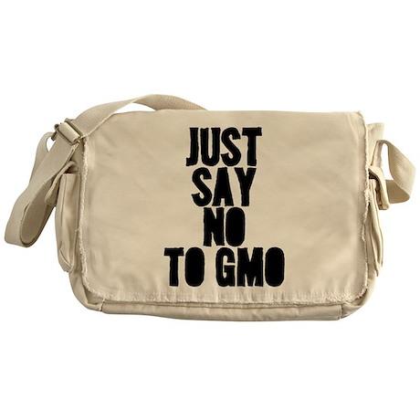 just say no to gmo Messenger Bag