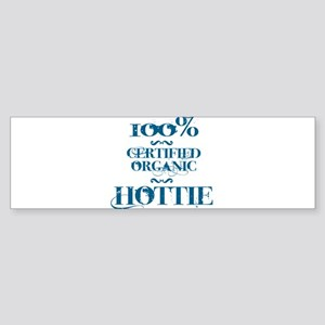 100% certified organic hottie Sticker (Bumper)