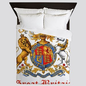 Royal Coat Of Arms Queen Duvet