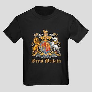Royal Coat Of Arms Kids Dark T-Shirt