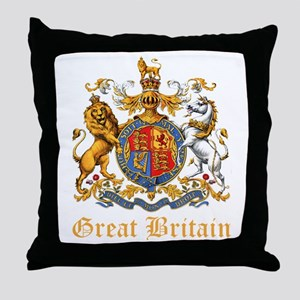 Royal Coat Of Arms Throw Pillow