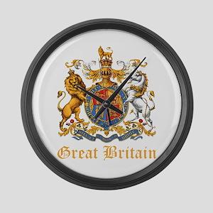 Royal Coat Of Arms Large Wall Clock