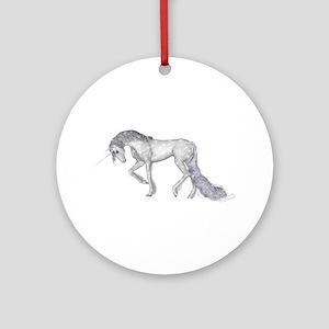 Silver Unicorn Ornament (Round)