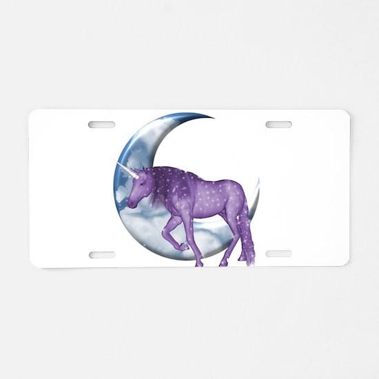 Dreamland Unicorn Aluminum License Plate