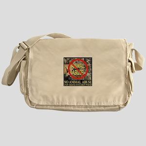 No Animal Abuse Messenger Bag