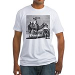 Camel With Machine Gun Fitted T-Shirt