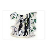 fashion figures & dog Postcards (Package of 8)