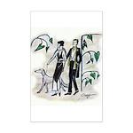fashion figures & dog Mini Poster Print