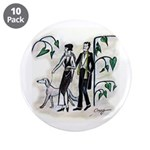 """fashion figures & dog 3.5"""" Button (10 pack)"""