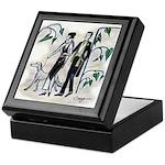 fashion figures & dog Keepsake Box