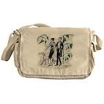 fashion figures & dog Messenger Bag