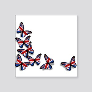"Butterflies Square Sticker 3"" x 3"""
