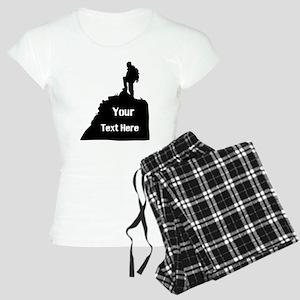 Hiking Climbing. Your Text. Women's Light Pajamas