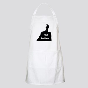 Hiking Climbing. Your Text. Apron