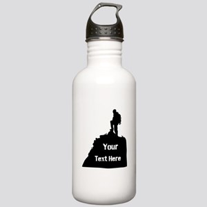 Hiking Climbing. Your Text. Stainless Water Bottle