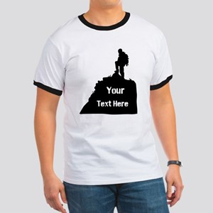Hiking Climbing. Your Text. Ringer T