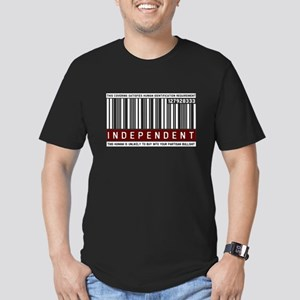 Funny, Independent Voter Men's Fitted T-Shirt (dar