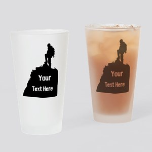 Hiking Climbing. Your Text. Drinking Glass