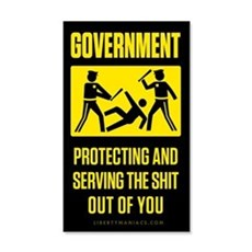 Government Protect And Serve 22x14 Wall Peel